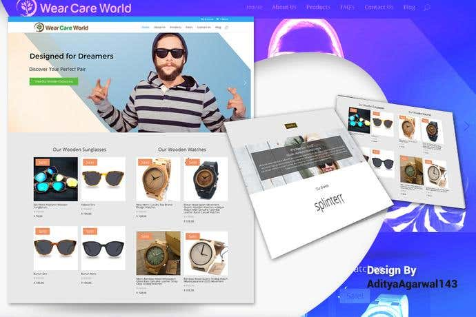 Best ecommerce homepage design for Wear Care World