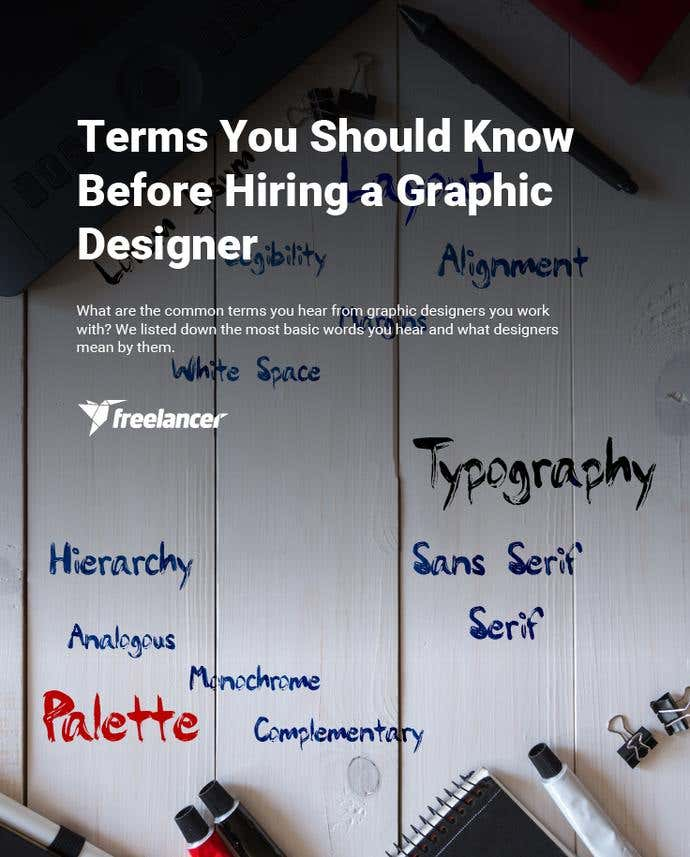 Terms You Should Know Before Hiring a Graphic Designer - Image 1