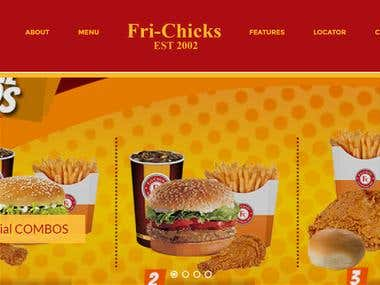 Fast Food restaurant website with online portal and admin panel