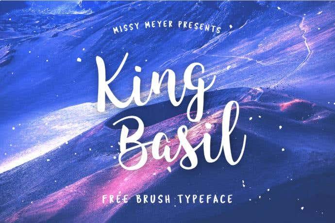 King Basil free cursive font