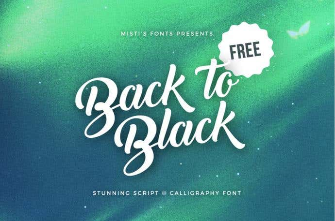 Back To Free Cursive Font