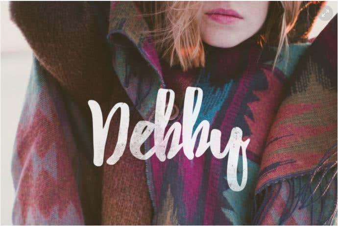 Debby free cursive font
