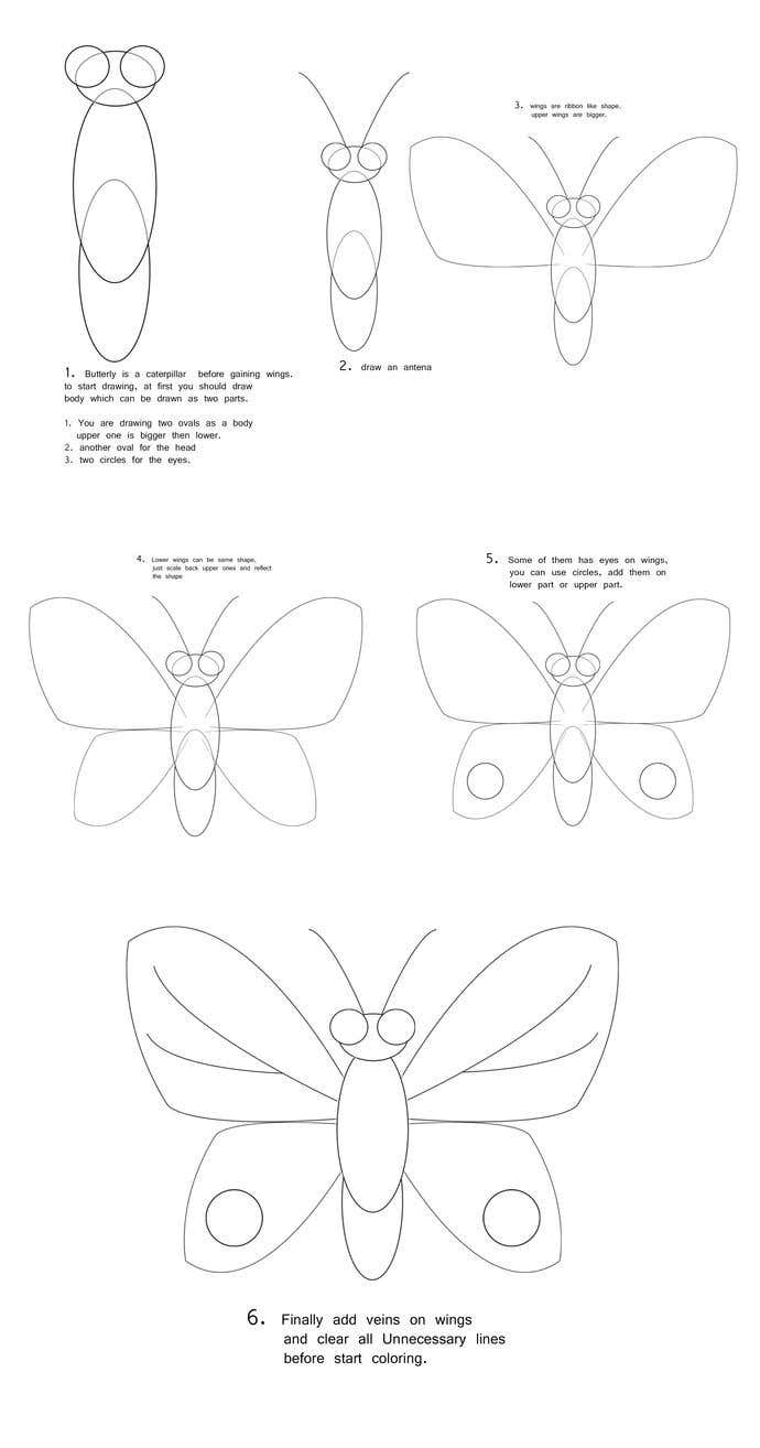 How To Draw A: Butterfly Drawing - Image 1