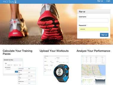 PaceThis is a running analytics platform that enables serious athletes to track, analyze, and plan their workouts in preparation for events (e.g. marathons). Runners with Garmin GPS watches can import their workouts directly into the site, and are instantly provided with a map of their run as well as charts/graphs analyzing their performance. Technical features of interest include an integration with a customized version of the Garmin Javascript API, mapping 1000s of sequential geo-data locations with Google Maps, data visualization with Highcharts, a customized responsive calendar to view workouts over time, and summary charts for weekly performance overviews.  The site is built in Rails 4 with Twitter Bootstrap v3 as the primary templating tool and PostgreSQL for data storage. Image used with permission.