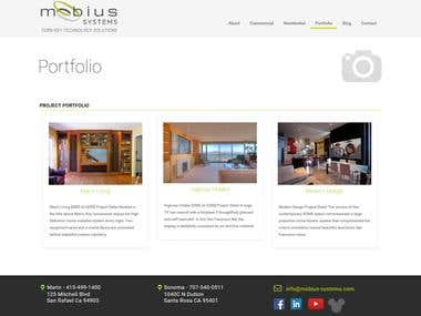 It is simple website but designed by very nicely. We had follow content structure, images and design under instruction of client.  URL: http://mobius-systems.com/