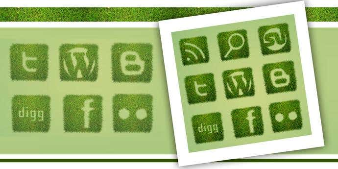 12 Grass Textured Social Icons.jpg