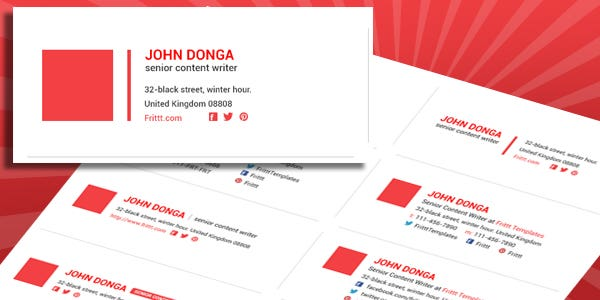 design an email signature