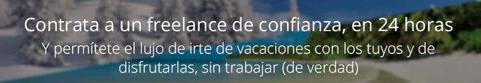 Banner intext vacaciones freelance