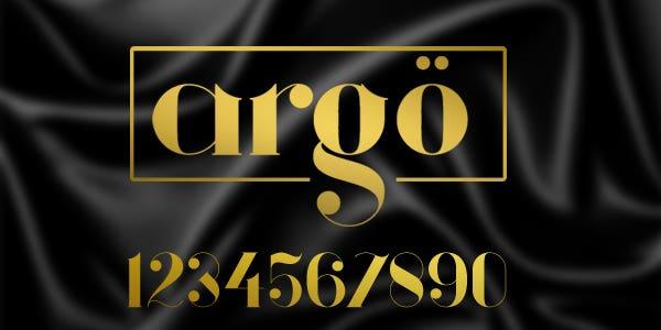 Argo best number font