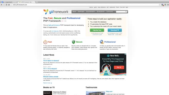 frameworks php - yiiframework