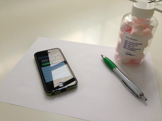 materiales necesarios para el test