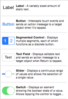 Elementos UI de Xcode
