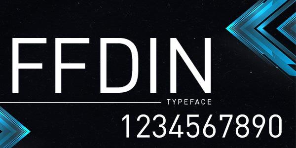 FF DIN best number font