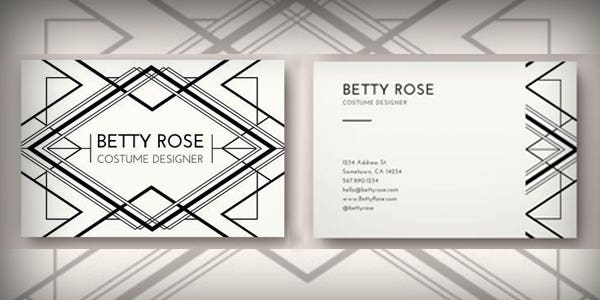 Black and white design for modern business card