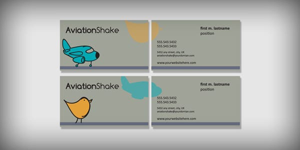 Contrasted colors design for modern business card