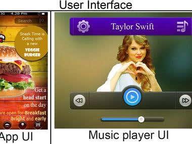 UI design for apps/software/web/etc