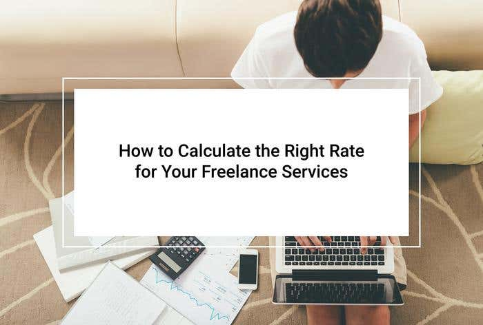 calculate right rate freelance services