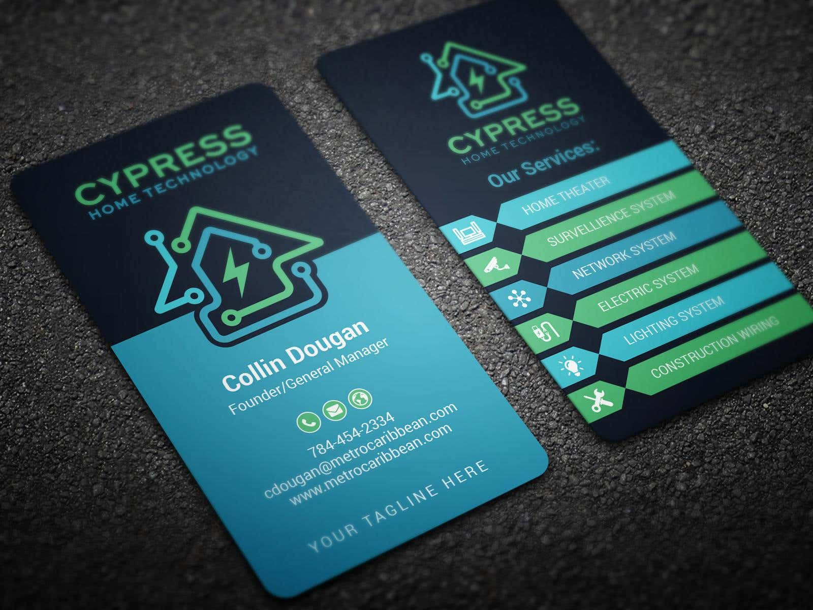 Business Card Design - Technology Integration - Electrician ...