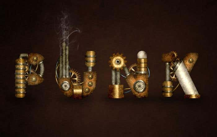 Adobe Photoshop Tutorial for Creating a Steampunk Inspired Text Effect