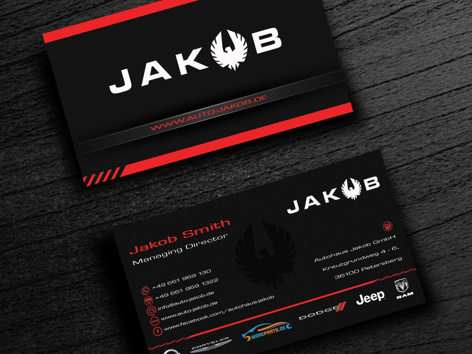 Design Von Visitenkarten Business Card Design