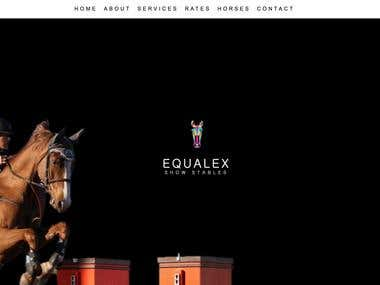 www.equalexstables.com  -Template customization -Content Writer -Photo Editing -Social Media Marketing -Print Media Designer