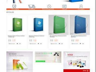 Magento Application sell Microsoft warehouse products