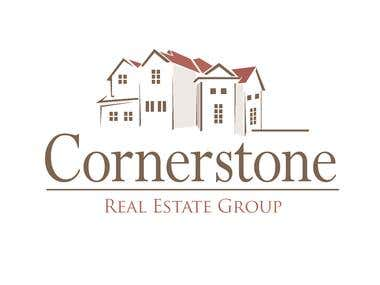 "Its a logo Design for a real estate company naming ""Cornerstone"""