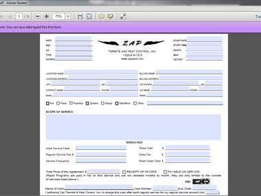 I can create Savable PDF Form. I have  two years professional experienced in this field
