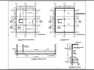 concrete design and drawings for 4 story building (shopping mall) using ACI code for design