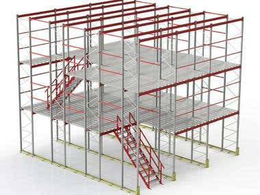 Model created in SolidWorks software.