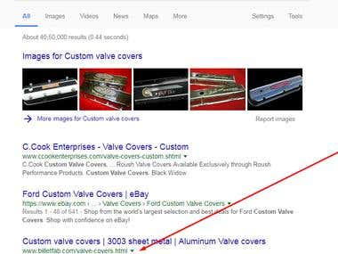 Custom valve covers rank #3 in google.com