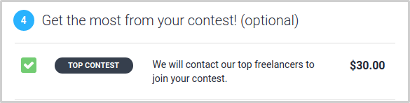 Top Contest upgrade