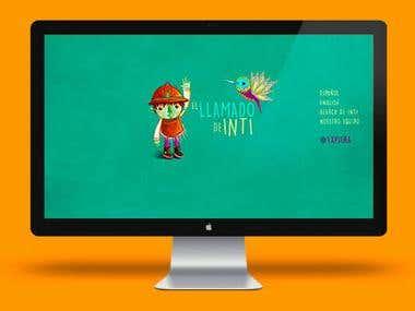 Maquetación y diseño web, implementación WordPress, Optimización e-book proyecto.  http://www.elllamadodeinti.co/