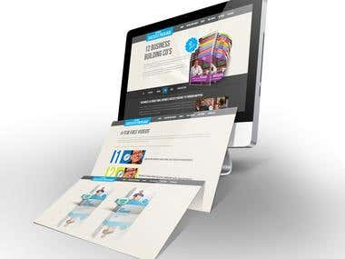 Website developed for promoting the books of Small Business Author.