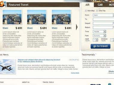 This site template is designed for travelling site where the owner can display different features of their business.