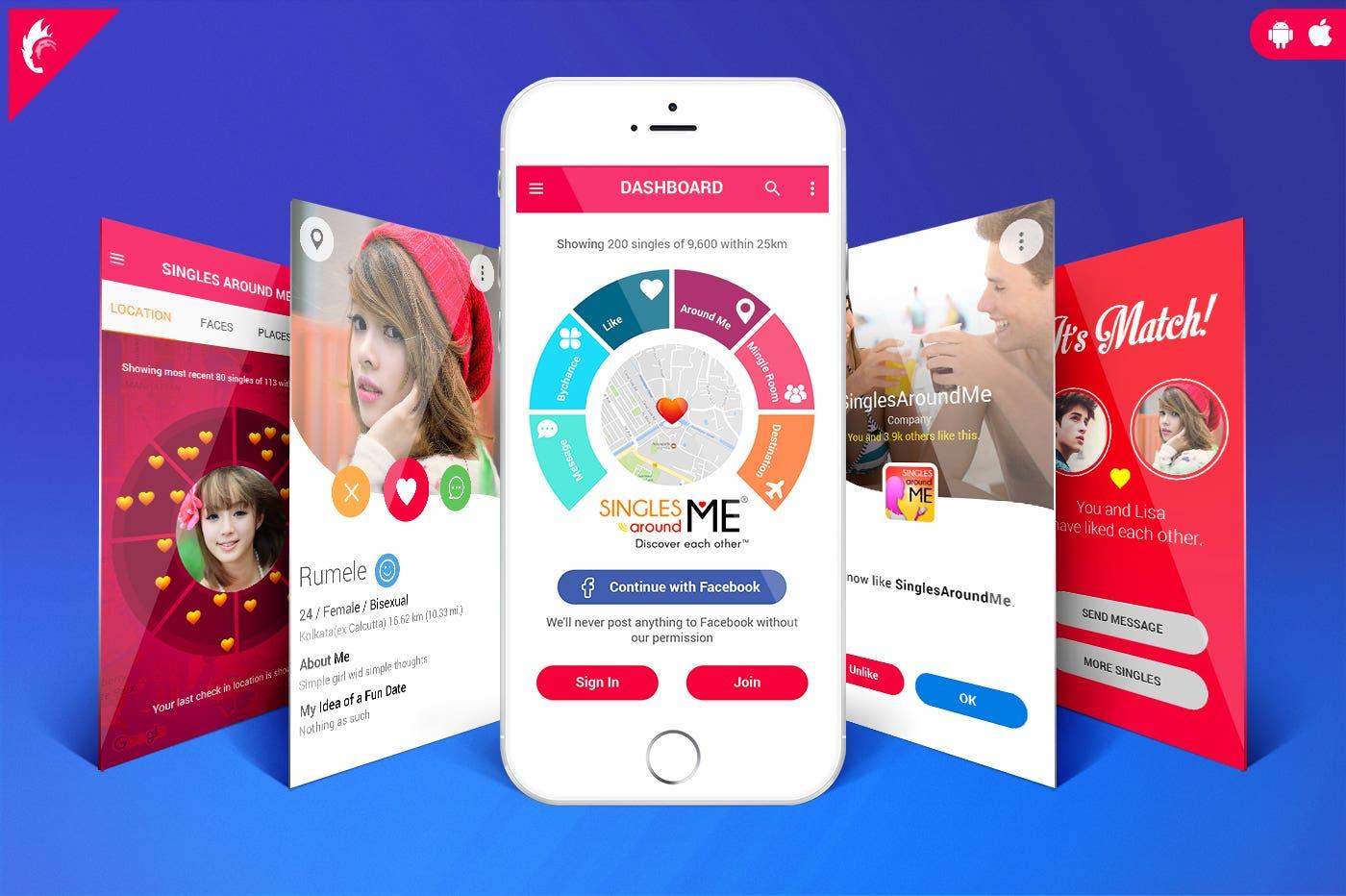 Single Around Me | Dating App