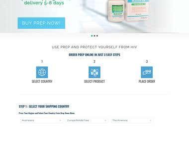 Online Medicine Shop with PayPal Integration. Divi theme