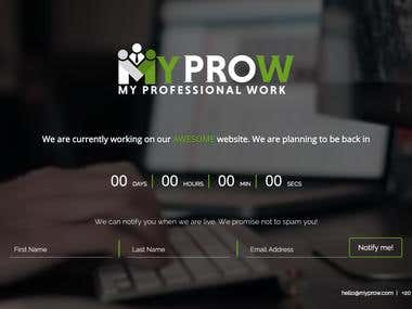 Designed and developed the coming soon page with video background and in multiple languages - English and Arabic