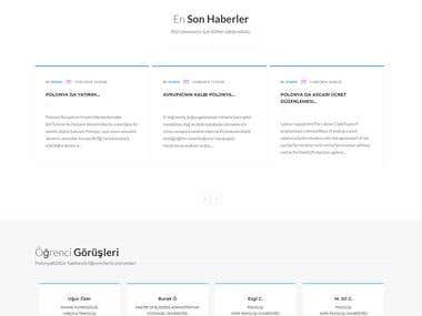 A special website for the Academy was designed and developed in Turkey