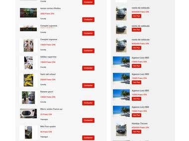 Website is designed and developed by me with PHP Code Igniter framework. Site is full responsive .