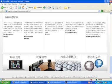 This is translations and designing project completed.