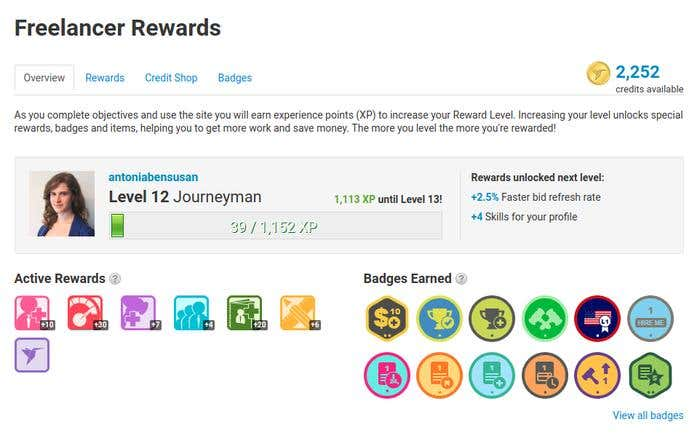 Freelancer Rewards: How to Earn Experience Points, Credits, Badges - Image 1
