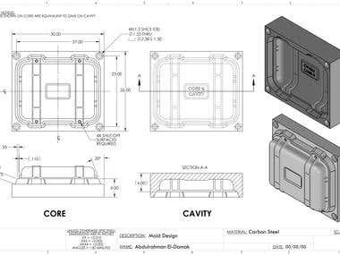 Injection Mould Design & Detailing DWG & Realistic Rendering.