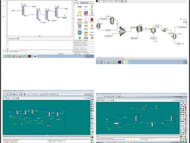 I simulate the chemical industries by using Hysys, aspen plus, unisim and chemcad. the process simulation results are revised and accurate