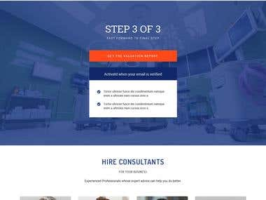 To demonstrate how to apply these landing page design concepts, I'll show a before and after the template design example. The purpose of this particular template is to facilitate the download of an ebook in exchange for the standard name and email.