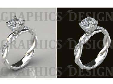 Any kind of Jewelry Path, Background remove /Transparent & Re-touch .