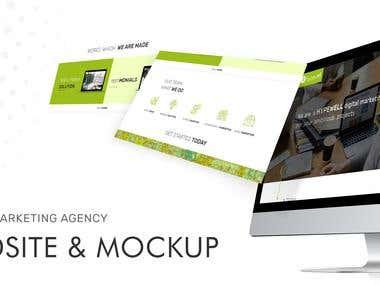 Digital Marketing Agency Website UI/UX Mock