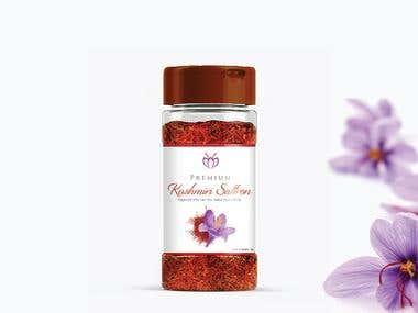 Identity & Label design for Premium Kashmiri Saffron
