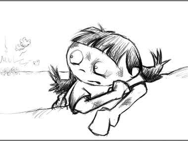 """A capture from """"The Dreamcatchers"""" storyboard"""