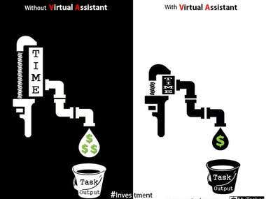 Info-graphic graphics design inspired by Virtual Assistance